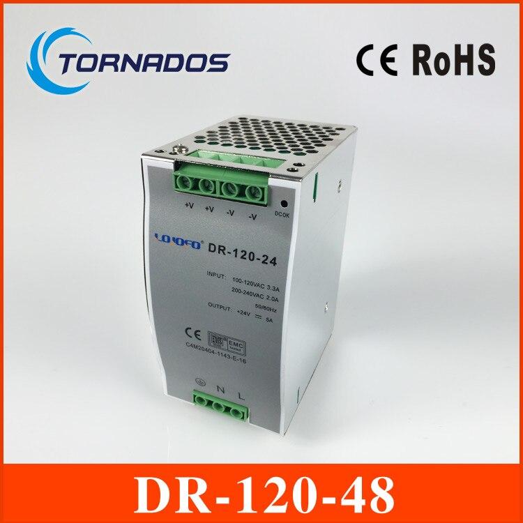 цена на wide range input nicely DR-120-48 high quality Single Output LED 120w 48vdc 2.5a Din Rail Power Supply Transformer