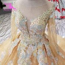 759459c835 AIJINGYU High Waist Wedding Dress Luxury Gowns Sleeve Belts Germany  Princess Style Long Train Gown Glitter