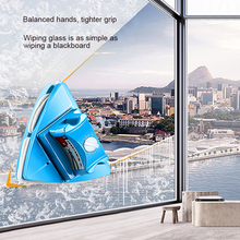 Double Sided Adjustable Magnetic Glass Wipe Brush Two-Sided Window Cleaner Scrub Home Cleaning Toos