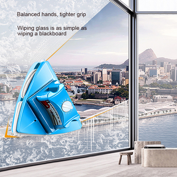 цена на Double Sided Adjustable Magnetic Glass Wipe Brush Two-Sided Magnetic Window Cleaner Magnetic Scrub Glass Home Cleaning Toos