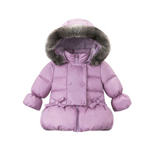 Girls Winter Zipper Jacket 2016 New Fashion Padded Hooded Cotton Coat for 24m-5Years Kids Print Girls Solid Thick Outerwear