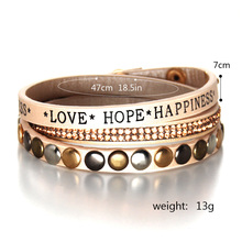 Happiness Leather Warp Bracelet For Women