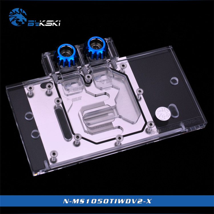Bykski GPU Water Block for MSI GeForce GTX1050TI V2 Edition Full Cover Graphics Card VGA Cooler N-MS1050TIWDV2-X image