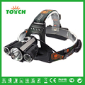 Toach led farol 4 modo portátil cree xml 3 * t6 led lâmpada de Cabeça luz Caça Lanternas de Led para Lanterna de Pesca 18650 bateria