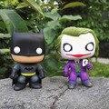 Funko pop DC Batman The Joker 01 # Justice League Heroes Capitão Amercan PVC Action Figure 10 cm Crianças Collectible Brinquedos modelo
