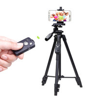 YUNTENG 5208 43 125cm Light Weight Portable Aluminum Alloy Tripod Wireless Remote Clip For Camera Phone