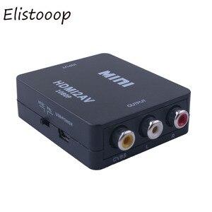 Image 2 - 2019 HDMI to AV/RCA CVBS Adapter 1080P Video Converter HDMI2AV Adapter Converter Box Support NTSC PAL Output HDMI AV Adapter