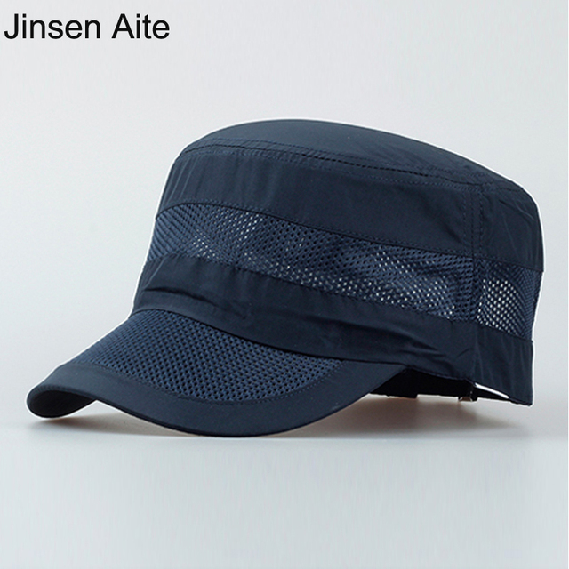 New 2018 Men Summer Outdoor Sun Hat Climbing Fishing Breathable Hats Male  Round Visor Foldable Solid ed0c6f1f4115