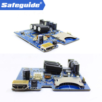 DHL Free new 2ch Mini Mobile DVR Board Real-time HD 1080P 2 Channel AHD DVR PCB Board support 128GB Security Digital Recorder