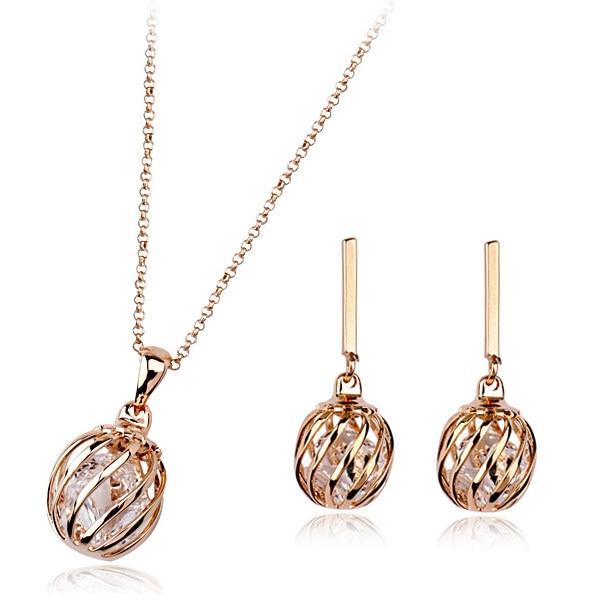 free shipping italina round zircon metal jewelry setin Jewelry Sets