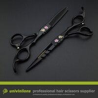 440C Univin 5 5 HRC60 Brand Hair Scissor Set With Bag Cloth Comb Clip Hair Cut