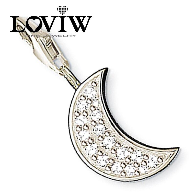 f05ddc51b56e Mujeres estilo blanco zicon Luna Amuletos cadena apta collar pulsera joyería  de moda para los amantes de regalo
