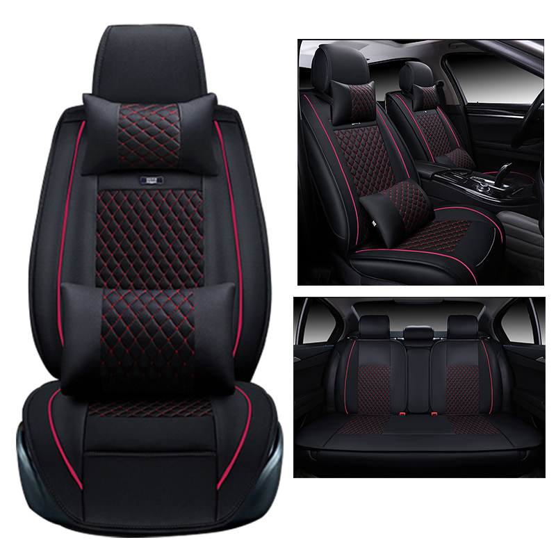 (Front + Rear) Universal car seat covers For Chery Ai Ruize A3 Tiggo X1 QQ A5 E3 V5 QQ3 QQ6 QQme A5 BSG E5 auto accessorie universal pu leather car seat covers for toyota corolla camry rav4 auris prius yalis avensis suv auto accessories car sticks