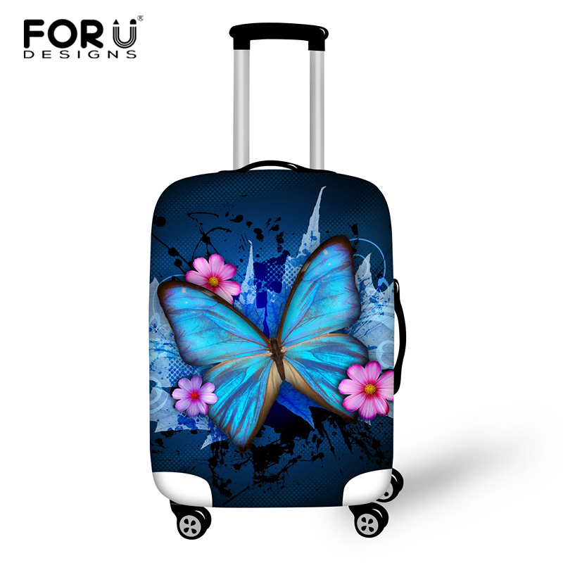 FORUDESIGNS Butterfly Travel Luggage Protective Cover For 18-30 Inch Trolley Suitcase Elastic Trunk Case Dust Covers With Zipper