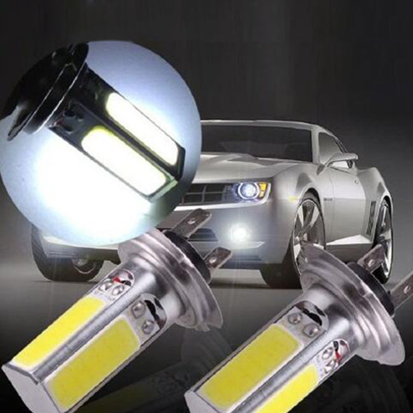 2x 6000K High Power H7 20W COB LED Fog Driving Headlight Light Lamp Bulb White 2x new h7 80w high power led car auto driving fog tail headlight light lamp bulb white 12v