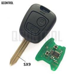 QCONTROL Car Remote Key DIY for PEUGEOT Partner Complete with Chip