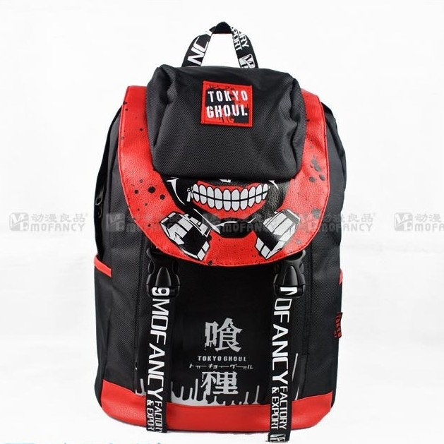 New canvas Kaneki Ken school bags anime cartoon tokyo ghoul bag travel backpack 2017 anime cartoon tokyo ghoul bag kaneki ken school bags travel durable teenager school tokyo ghoul cosplay backpack