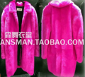 S-5XL ! Men singers GD BIGBANG Style  Fur Coat Men Dancer DJ Stage Show Fluorescent Pink Long Fur Coat Costumes ! free shipping