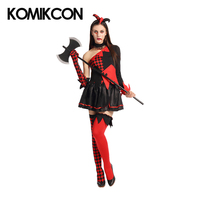 Harley Quinn Dresses Cosplay Costumes Halloween Carnival Party Dress Suit for Women Girls