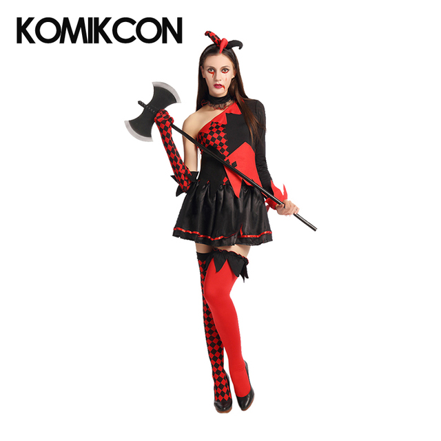Harley Quinn Vestidos Cosplay Trajes Halloween Carnaval Fiesta Traje - Trajes-de-hallowen