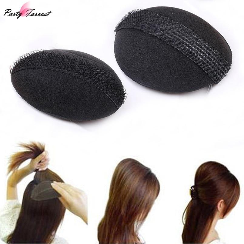 PF 2pcs/lot Women Fashion Hair clip Sponge Hair Device Headdress Braid Headband Styling Tool for women Hair Accessories TS1131
