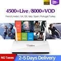 Leadcool Francia IPTV Box Android 7,1 IP TV 1 año SUBTV IUDTV QHDTV código IPTV España Italia holandés Bélgica francés árabe IPTV Box