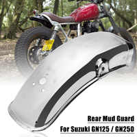 Stainless Steel Motorcycle Rear Fender Flares Mud Flaps Mudguard Splash Guard for Suzuki GN125/GN250