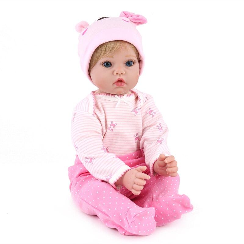 20 pouces réaliste NPKDOLL Reborn Bonacas 50 cm Silicone vinyle Reborn bébés poupée jouet vivant bébé poupée pour enfants cadeaux d'anniversaire