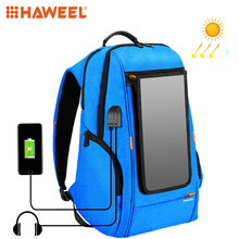 HAWEEL Outdoor Solar Panel Power Backpack Bags Multi-function Breathable External USB Charging/Earphone Port Laptop Tablet Bags 60mm f 2 8 2 1 super macro manual focus lens for nikon f mount d7200 d7100 d7000 d5500 d5200 d3300 d3200 d810 d800 d90 d700 dslr