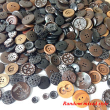 50 шт 10 мм-30 мм разные деревянные пуговицы случайный хвостовик швейная кнопка для Аксессуары для скрапбуков