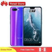 Huawei Onur 10 SmartPhone Küresel Sürüm/ROM 5.84 ''Kirin 970 Android 8.1 24MP AI Kamera NFC Hızlı Şarj 4 GB 128 GB Telefonu