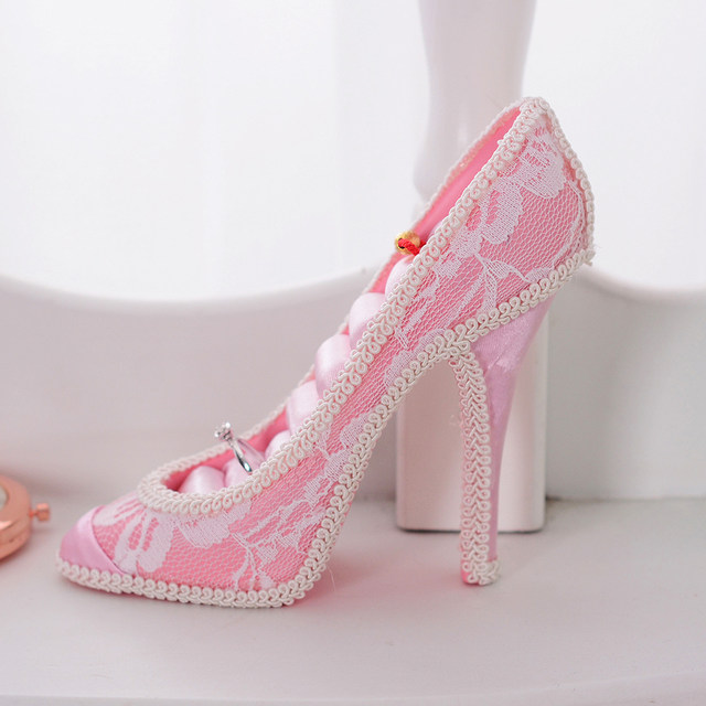 Online Shop Pink Highheel Shoe Dress Mannequin Jewelry Organizer