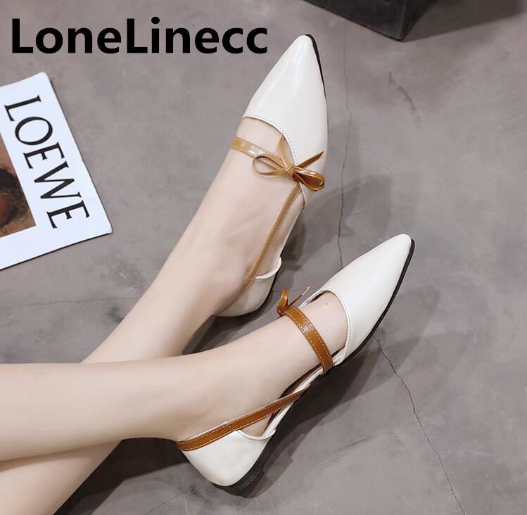2018 spring women flat sheos summer platform sandals student Pointed shoes woman fashion casual Bow tie flats Single shoes S019 new fashion high quality vintage women flat shoes women flats and women s spring summer autumn shoes pointed single shoes