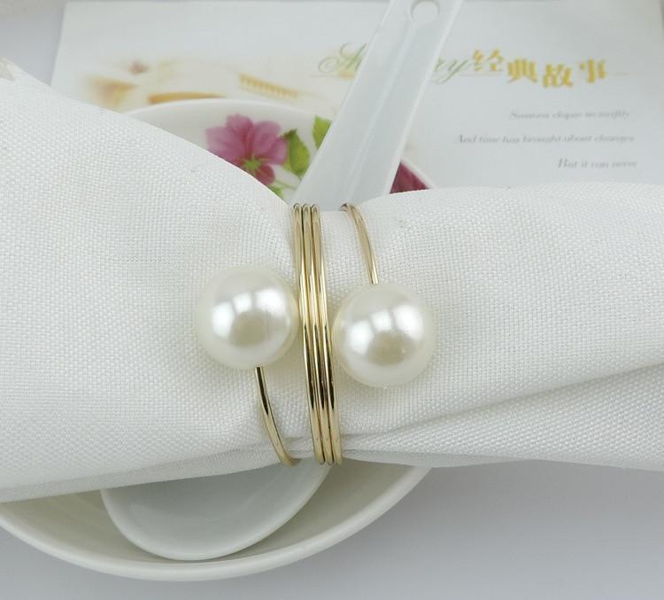 Hochzeit Serviettenringe Perle 50 Stück viel Neuheit Tabelle - Küche, Essen und Bar - Foto 6