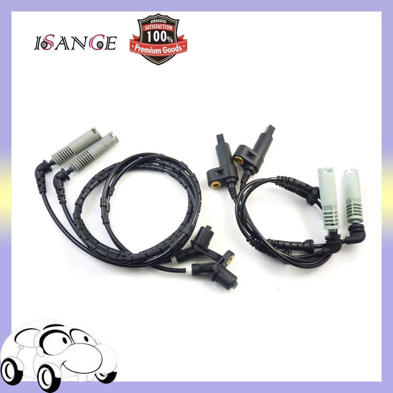 ISANCE Front Rear ABS Wheel Speed Sensor Set For BMW E46 316 318 320 323 325