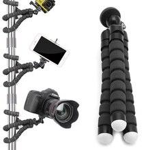 Mavi/kırmızı/siyah Mini Tripod esnek ahtapot tutucu braketi standı dağı Apple iPhone için Gopro kamera için