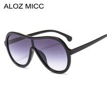 ALOZ MICC Oversize One Piece Sunglasses Men Brand Design Fashion Big Frame Sun Glasses Women Female Sunshade Q692
