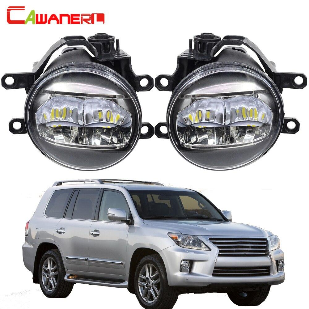 Cawanerl Car 4000LM Fog Light 3030 LED Beads DRL Daytime Running Light White H11 12V For Lexus LX570 2008 2009 2010 2011