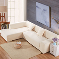 i shaped sofa cover stretch Case sectional couch home decor armchairs furniture white universal sectional fabric sofa cover
