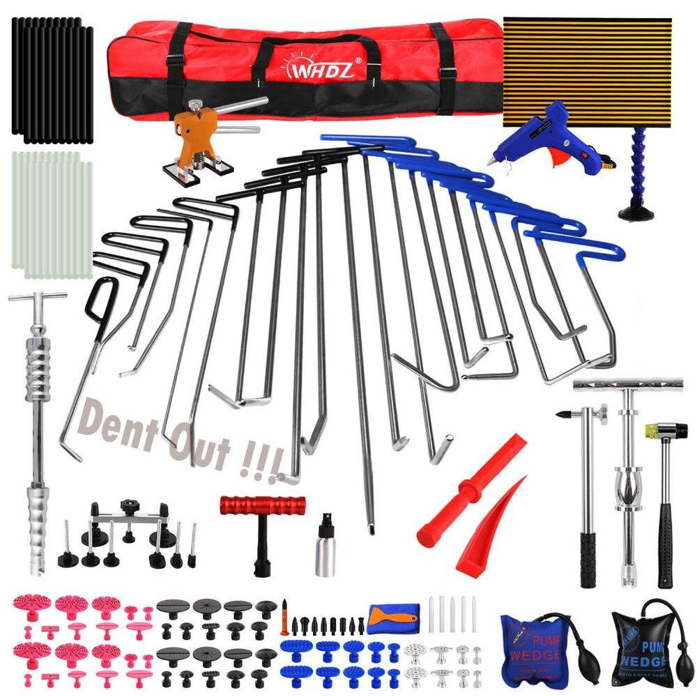 Gancho Conjunto de Ferramentas de Remoção Do Dente Paintless Reparação Dent Carro Dent Extrator Lifter glue tab TOP Tap Baixo Refletor Placa Mão conjunto de ferramentas