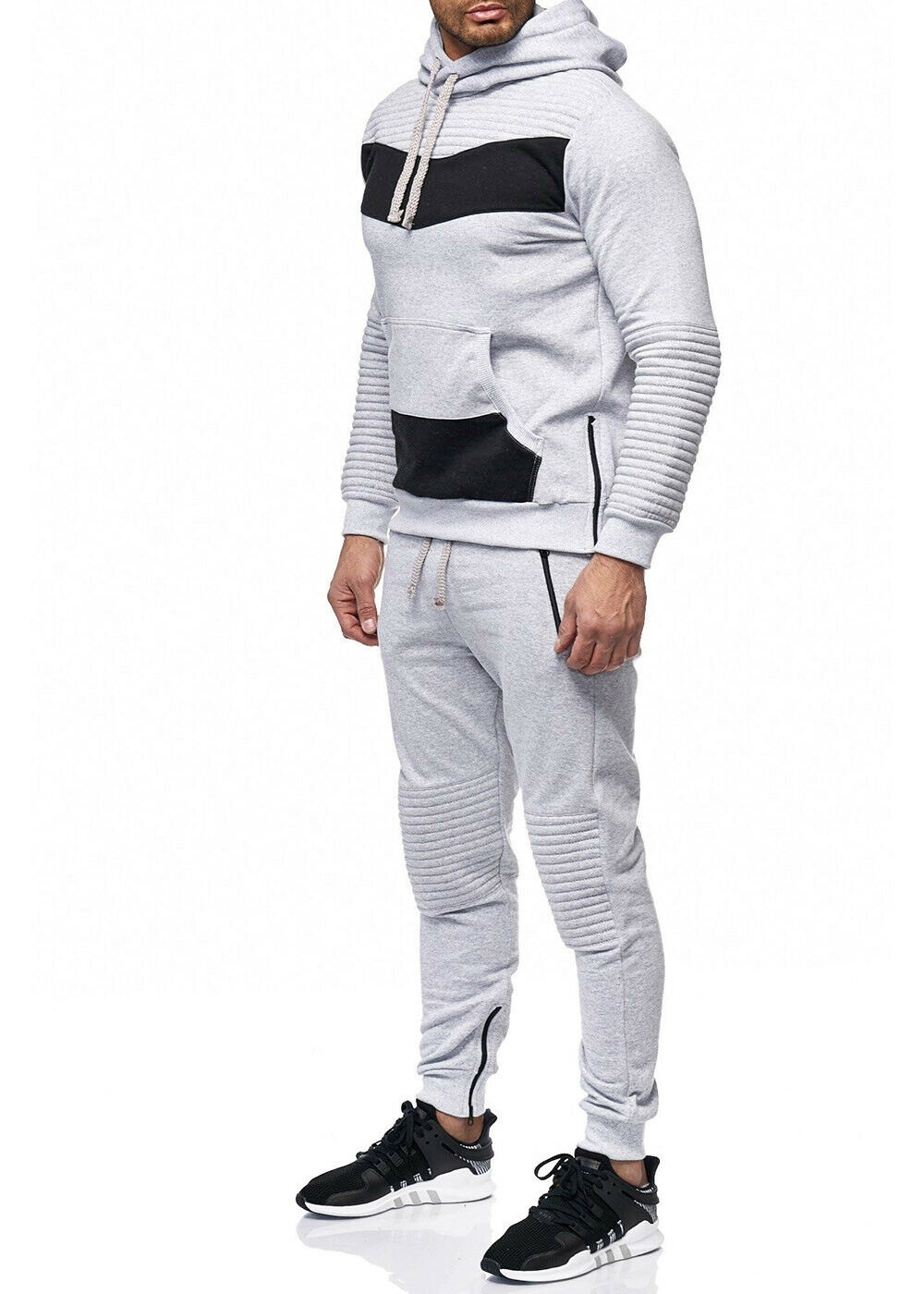 Zogaa Men Tracksuit New Fashion Jacket Sportswear Men Sweat Suit Hoodies Spring And Autumn Men's Brand Hoodies Pants