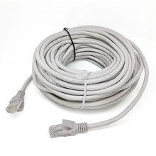16.4FT/5 M RJ45 CAT5 CAT5E Ethernet internetu sieci LAN kabel przewód szary nowy darmowa wysyłka