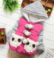 2014 winter baby girl hooded fleece coat and jacket