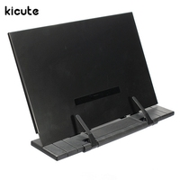 Kicute Excellent Adjustable Portable Steel Document Book Stand Reading Desk Holder Bookstand Hone Office School Supply