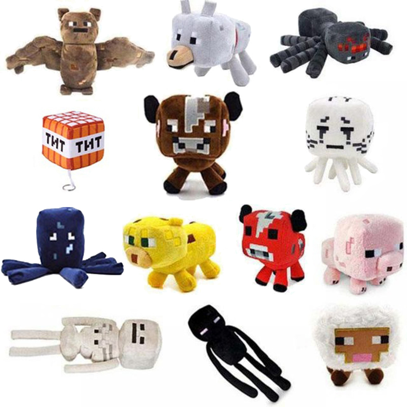 все цены на 15 Styles minecraft Plush Toys Soft Stuffed Doll Cartoon Animal Plush Toy Brinquedos Children Kids Gift Free Shipping