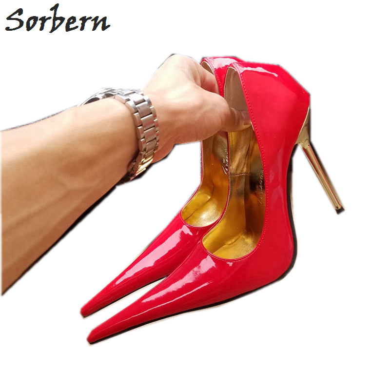Sorbern Long Pointy Toes Women Pump 12Cm High Heels Shoes Ladies Size 44 Heels Evening Shoes Metal Stilettos Heel Slip On UnisexSorbern Long Pointy Toes Women Pump 12Cm High Heels Shoes Ladies Size 44 Heels Evening Shoes Metal Stilettos Heel Slip On Unisex