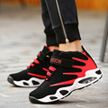 Tamanho grande 35-44 High Top Sapatos Almofada de Ar Dos Homens Retro Sapatos Casuais Lace Up Respirável Amantes Formadores Vermelhas Basket Zapatillas