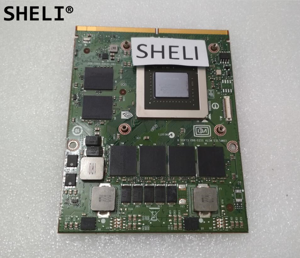 SHELI <font><b>GTX</b></font> <font><b>770M</b></font> GTX770M 3G N14E-GS-A1 VGA Video Graphic Card For DELL M15X M18X M6600 M17X 180-12303-1002-A02 image