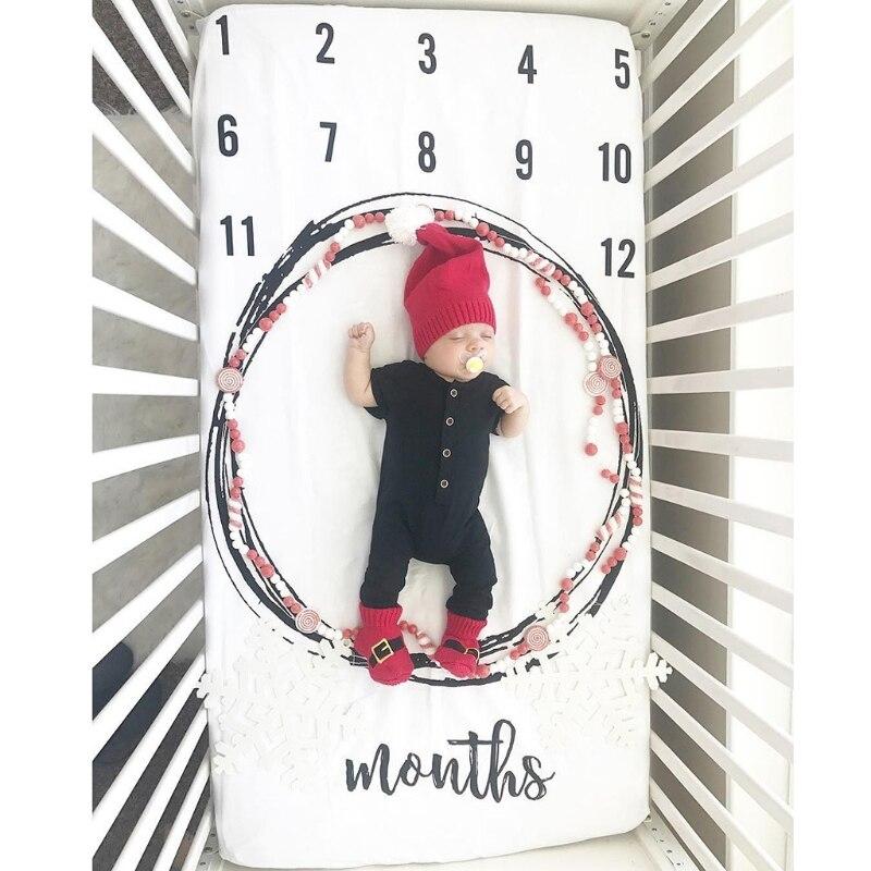 Дизайн детская простыня Новорожденный Фотография реквизит месячный рост одеяла для заднего фона