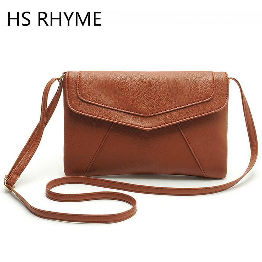 HS RHYME Cheap PU Leather Crossbody Bags New Clutches Ladies Party Purse Women Bag Messenger Shoulder Bag School Bags casual small candy color handbags new brand fashion clutches ladies totes party purse women crossbody shoulder messenger bags